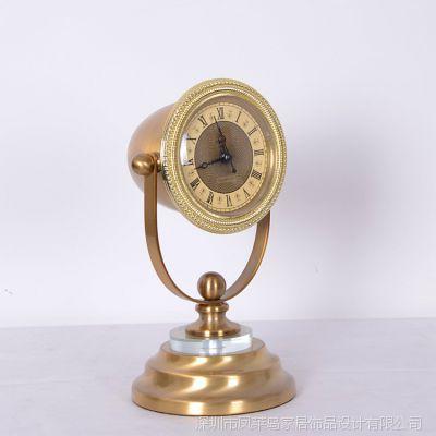欧式个性创意时钟 家居摆饰工艺品 金属工艺品创意时钟 厂家直销