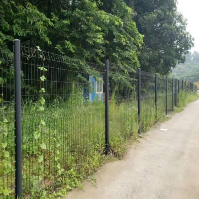 江门浸塑护栏网 双边丝围网 阳江防护隔离网现货 包塑铁线