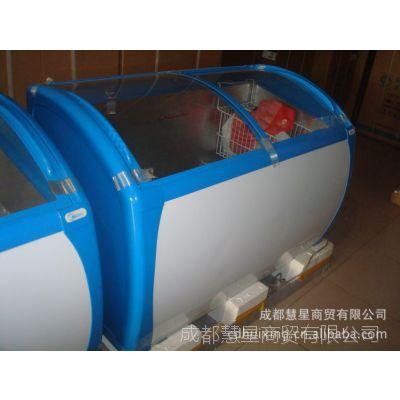 批发全冷冻美的冰柜/冷柜/雪糕柜SD-356HKM 圆弧玻璃门展示陈列柜