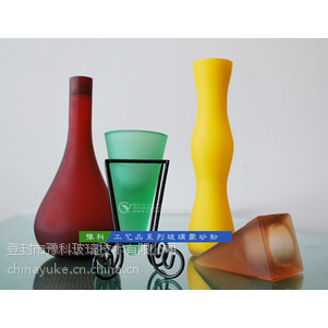 供应 工艺品、艺术玻璃、装饰玻璃专用深加工原料玻璃蒙砂粉