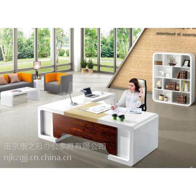 供应南京康之冠办公家具实木大班台,实木老板桌
