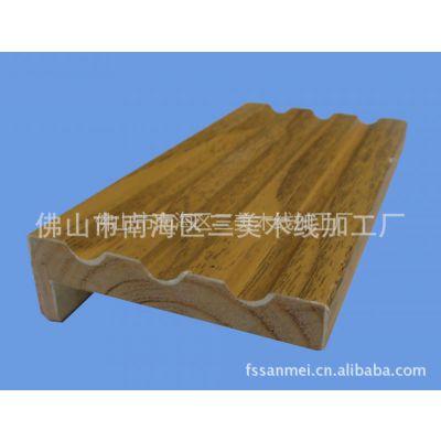 供应实木线材、实木刮腻子贴皮木线条、印刷门套线