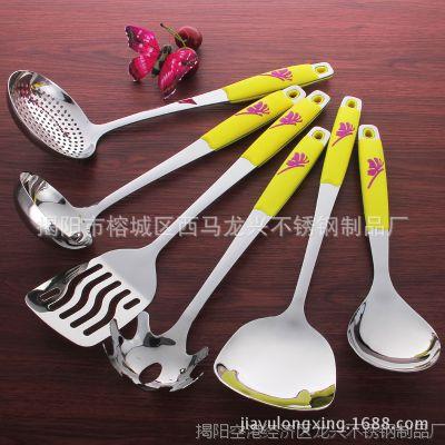 高档不锈钢厨具 不锈钢勺套装 创意 加厚礼品厨具套装 厂家直销