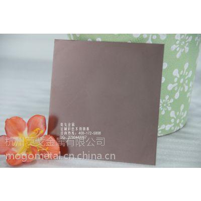 镜面喷砂拉丝玫瑰金不锈钢板定做批发 真空镀玫瑰金装饰板