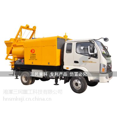 车载搅拌输送泵水平输送距离更远,车载搅拌输送泵价格报价