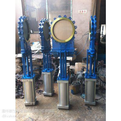 供应快开气动刀闸阀,电控气动刀闸阀,气动干灰闸阀型号GHZ673