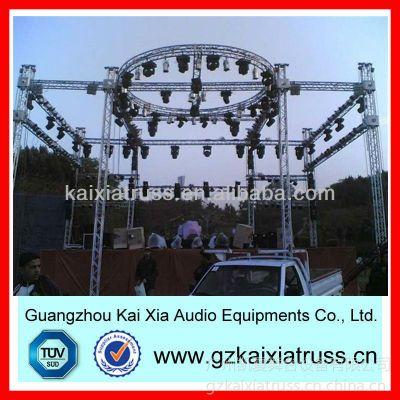 供应优质圆形铝质桁架,灯架展示架,舞台灯光架展示图
