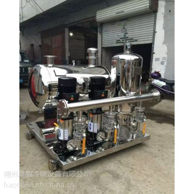 卓智生产自动变频恒压供水装置 管网叠压、消防供水设备 特点