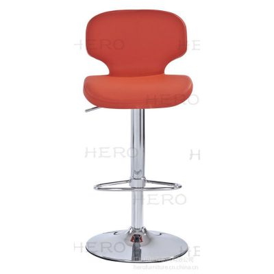 供应腾森家具升降电镀软皮PU吧椅5029/GB