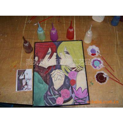供应儿童画 小孩画 水彩画 水晶画 彩泥画 彩珠画 喜羊羊玩具