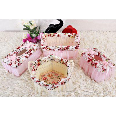 聚百亨纸巾盒 套装七彩玫瑰面包盒  深筐 浅子 玫瑰三联