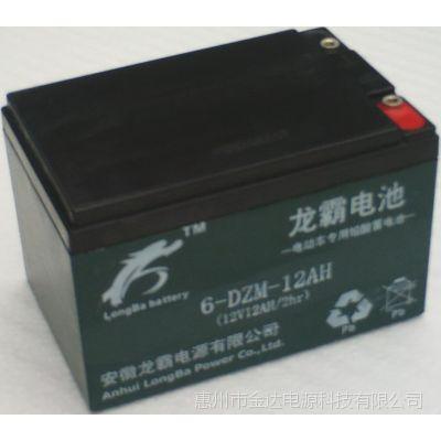 供应厂价直销绿源电动车电池12V12AH龙霸品牌48V电瓶助力车蓄电池