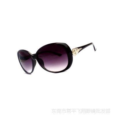 厂家批发 百搭女士太阳镜 潮流墨镜蛤蟆镜女款 市场大框太阳眼镜