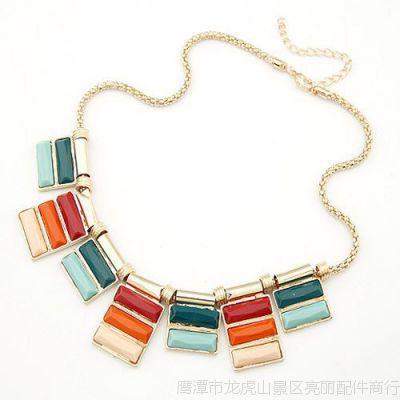 欧美时尚几何 复古 项链珠宝 项链