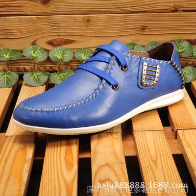 现货厂家直销头层真皮休闲男鞋品牌皮鞋时尚潮鞋批发男皮鞋平底鞋