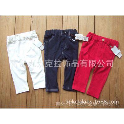 外贸童装批发出口日本原单小童仿牛仔小脚裤号码80-110