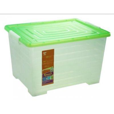 供应厂家供应好而惠 PP滑轮整理箱 塑料条纹整理箱 家用周转箱批发