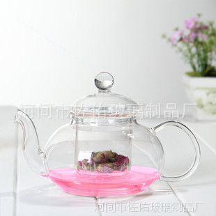 加厚耐热玻璃茶具套装花茶壶花草茶壶高档玻璃茶具透明花草茶壶