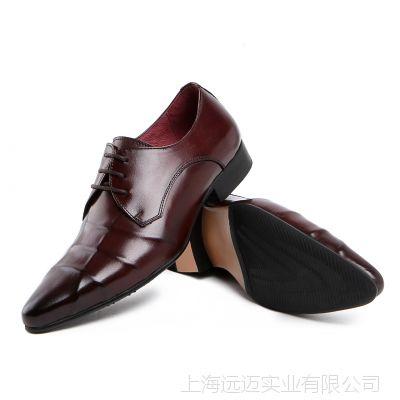新品男式单鞋欧版风格真皮皮鞋正装工作鞋大气高档结婚鞋潮流