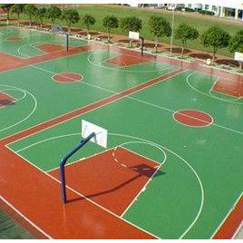 供应昆山太仓花桥塑胶篮球场施工 塑胶地面篮球场铺设