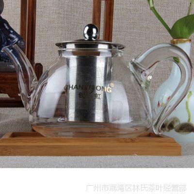 玻璃茶壶 创虹卡口式茶艺杯T800大容量 不锈钢内胆过滤 泡茶壶