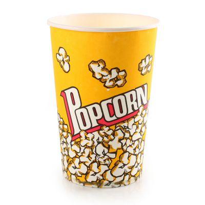 供应46盎司一次性爆米花桶爆米花纸桶爆米花杯零食纸杯纸桶批发500个