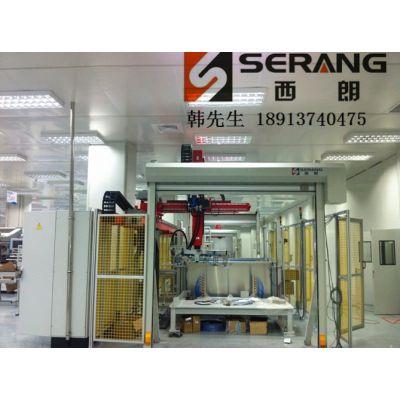 机器人工作防护高速门|焊接机器人安全防护快速卷帘门