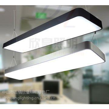 供应圆角办公照明吊线灯 LED铝材吊线灯 高档办公照明灯具 厂家直销