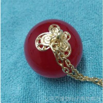韩版流行饰品  多色糖果色圆球项链  吊坠毛衣链  大款  厂家直销