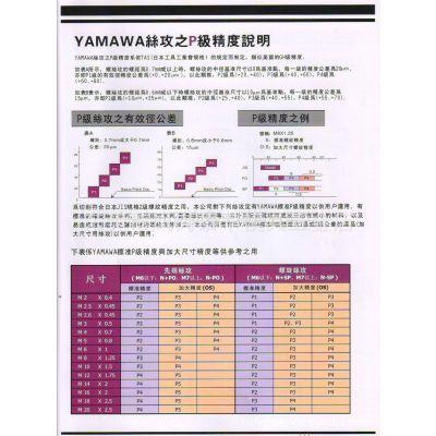 供应日本YAMAWA弥满和不锈钢专用螺旋丝攻SU+SP螺纹切削丝锥