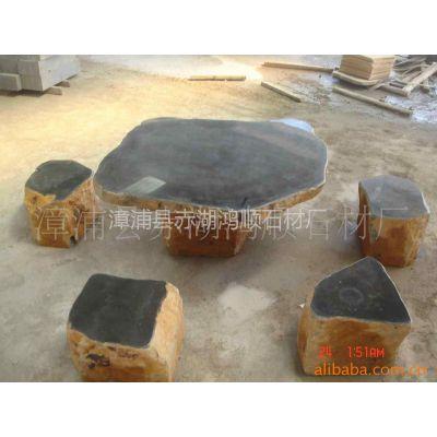 供应光泽度好抗压强的花岗岩六方石石桌子.椅子