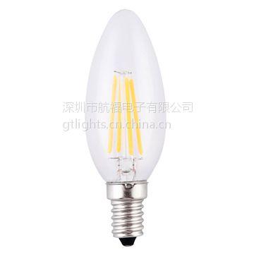 厂家批发4Wled灯丝灯泡,GTLIGHTS-led白炽灯高质量的360度照明,超长寿命,