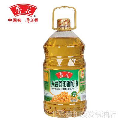 正品鲁花 无添加非转基因物理压榨鲁花大豆食用调和油5L桶装