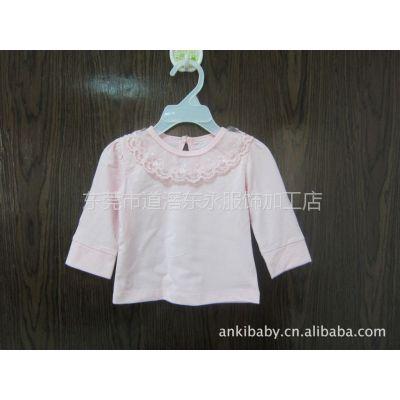 供应婴儿百日、满月、周岁打底衫,搭配礼服裙子,粉色米白两色