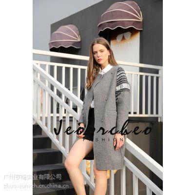 着秀品牌女装大码外套2016春装新款韩版中长款女风衣