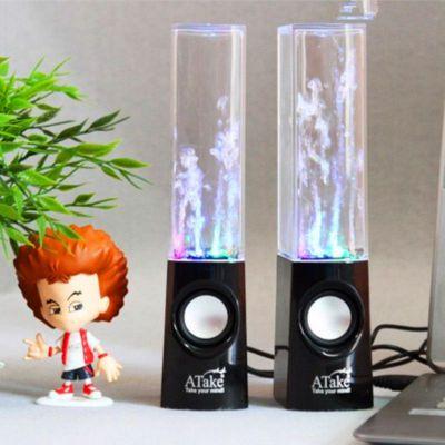 供应新款水晶音箱    水舞音箱    喷泉音响    七彩灯音箱
