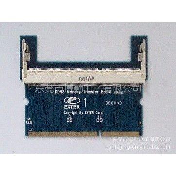 供应SO DDR3-204Pin 反向内存保护卡测试卡转接卡