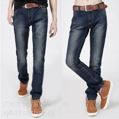 男女装哪里有便宜的地摊男装七分裤牛仔裤批发休闲裤七分裤