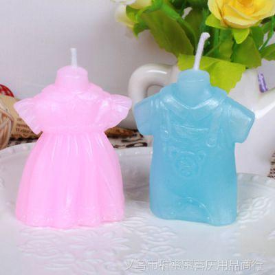 创意儿童生日派对气氛用品宝宝衣服背带裤蜡烛结婚回礼礼物批发