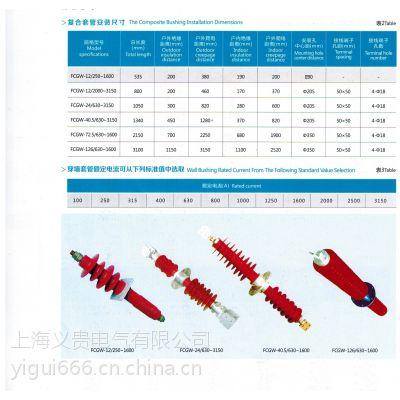 供电局指定品牌复合穿墙套管FCGW-40.5/630-3150 义贵专业生产