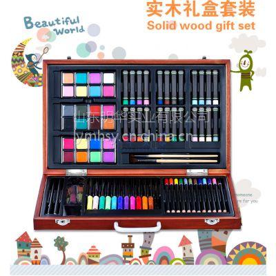 正品 雄狮木盒黑白派 水彩颜料蜡笔画笔彩铅绘画组合套装儿童节