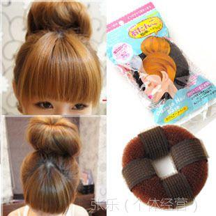 003 新款日系自粘款甜甜圈 头发增高器 蓬蓬垫 长发变短发盘发器