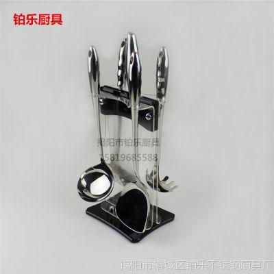供应空心柄不锈钢厨具套装 铲勺刀6件套 炒铲粥勺切菜刀 厂家直销