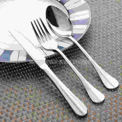 揭阳不锈钢餐具刀叉 西餐餐具牛排刀叉 不锈钢刀叉勺加工定制