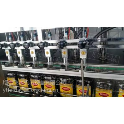 供应烟台飞达高精度食用油灌装设备适合橄榄油茶油灌装