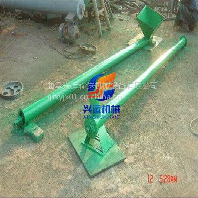 厂家定做可以抽水用螺旋输送机,简易螺杆上料机型号,碳钢U型绞龙递料机