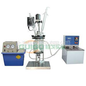 供应双层玻璃反应釜GG-5L/上海玻璃反应釜厂家