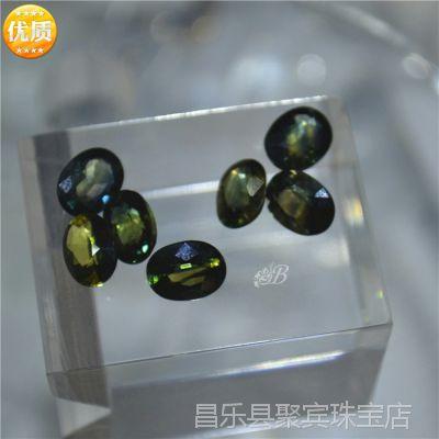 潍坊昌乐矿区直销 特A级天然彩色蓝宝石戒面  可代加工 原石