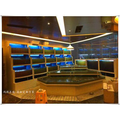 太仓海鲜池鱼缸定做玻璃水族工程