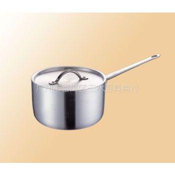供应直柄单底高身铝汁锅